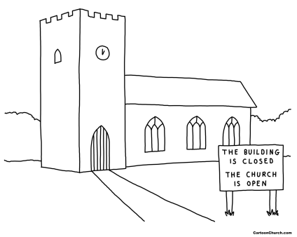 building-closed-church-open